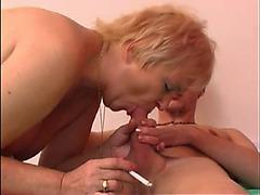 Smokin' Blond Granny