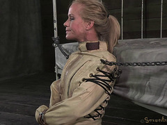 Moist Golden-Haired In A Straitjacket Drilled By A Massive Darksome Pecker