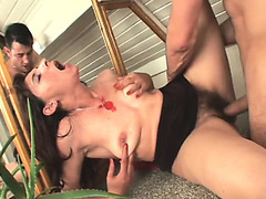 Slim brunette hair mother i'd like to fuck Gina has a hard stick banging her curly cookie