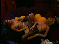 Alluring Lesbo Cougars In Hawt Hose Masturbate In Epic Retro Movie
