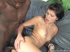 Gorgeous Jenna Moretti Has Interracial Sex With A Dark Dude