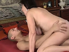 Granny drilled by a youthful man
