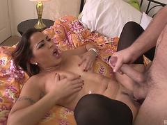Breasty Dark Brown Julianna Vega Looking Astounding During The Pounding