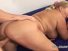 Large boobed older woman drilled in the cum-hole