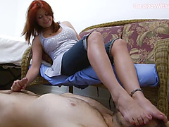 Smothered By Her Feet And To Cum
