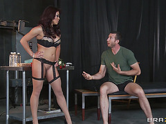 Mia Lelani acquires double permeated and facialed hard in Male+Male+Female episode
