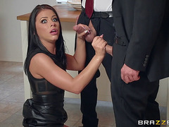 Dark-Haired Lass Called Adriana Thinks That This Babe's Willing For 2 Dicks