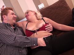Older blond from the Holland is absolutely glad to acquire group-fucked hard