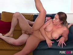 Pure XXX Films fearsome-fearsome Breasty sis enjoys a perverted sex game with her step-brother menacing-menacing PornDoe