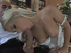 Hawt blond in cute underware drilled