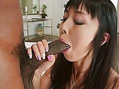 Large Dark shlong drilling an Oriental anal balls unfathomable