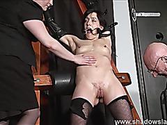 Enslaved painslut Elise Graves whipping in hard sadomasochism punishm