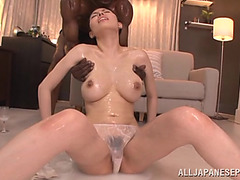 Glamorous Japanese Has Interracial Sex With A Darksome Dude