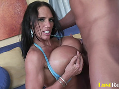 Hot Cougar With Monster Pantoons Seduces A Impressive Lad With Her Body