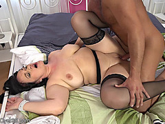Ria Darksome acquires hawt cum all over her large whoppers