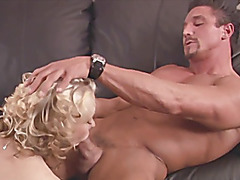 Unshaved blond acquires fuck at the work place