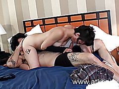 Shaggy playgirl Chastity receives her doggy fuck and cum on her wazoo
