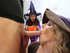 mother I'd like to fuck Cory celebrates halloween with an fuckfest with legal age teenager Anastasia