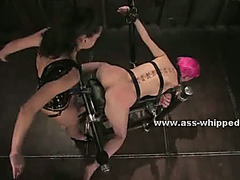 Beautifull fantastic dark brown sweetheart with large hard nipps aroused after lesbo bitch goddess spanks her