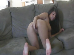 Breasty Lalin Girl Sweetheart Toying her Constricted Cum-Hole