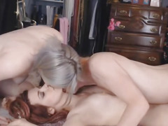 Lady-Boy Enjoys Licking a Juicy Snatch