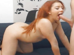 Hard Fucking Of Sexually Excited Pair With Cum Eating