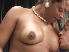 Transexual sweetheart receives anal