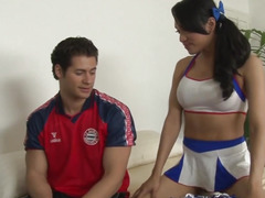 Group-Fucked oriental transsexual cums