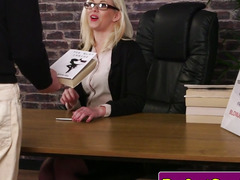 Spex Britt wanks weenie and cleans facial load