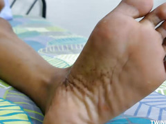Oriental Twink Mikal Foot Fetish Jerk Off