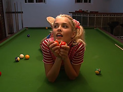 Billiards aren't boring with this angel