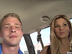 Coarse homo sex in a vehicle with 2 sexually excited hunks