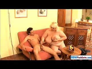 Porn Tube of Bbw June Kelly Fucks A Skinny Guy