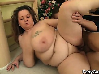Porn Tube of Chubby Bitch Fucks Her Fitness Instructor