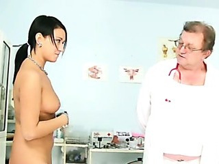Porno Video of Carmen Pussy Speculum Detailed Gyno Exam By Kinky Old Doctor