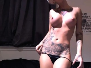 Porno Video of Hot Tattoo Blond Stripshow Hd
