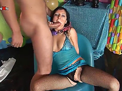 Sexually Excited dark brown is wet by piddle after being screwed stupid