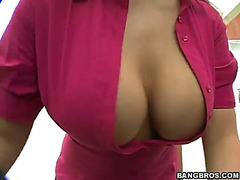 Marvelous blond mother i'd like to fuck with large love melons acquires fucked from behind