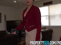 Propertysex fearsome-menacing large arse latin babe realtor tricked by perv into making sex episode