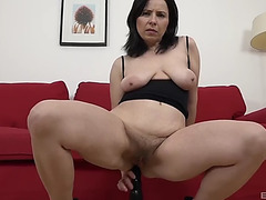 Marika shine wishes to feel a darksome stud's knob in her gaping wet crack