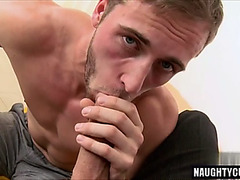 Large penis dad casting and facial