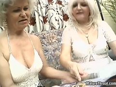 Old-wazoo wench sucks rod &menacing swallows cream