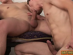 Muscle homosexual anal sex and spunk fountain