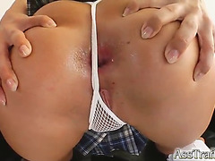 Anal sex with the lascivious golden-haired sweetheart helena