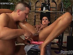 Lascivious slut receives her butt fisted