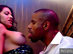 Hawt breasty latin babe shelady ts foxxy anal pounded in the bar