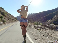 Street hooker kissa sins acquires busted by officer johnny sins and his partner