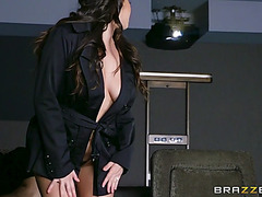 Large titted karlee grey seduces the theater attendant michael