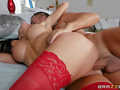 Breasty melissa lynn receives cunt slammed by lascivious keiran lee