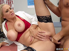 Dr.menacing julia ann acquires screwed by keiran whilst his wife awaiting for him